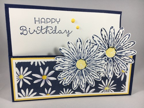 Stampin Up Delightful Daisy birthday card idea - visit www.juststampin.com Jeanie Stark StampinUp