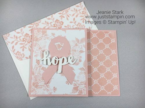 Stampin Up Support Ribbon card idea for breast cancer patients - Jeanie Stark StampinUp