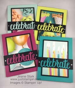 Stampin Up Celebrate You Thinlits Birthday card idea - Jeanie Stark StampinUp