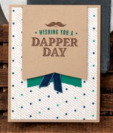 Stampin Up True Gentleman masculine birthday card idea - Jeanie Stark StampinUp