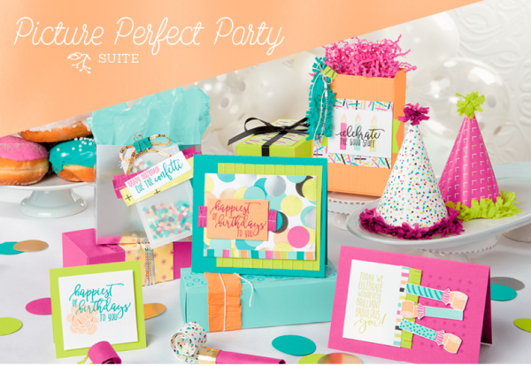 Stampin Up Picture Perfect Party Suite birthday card and project ideas - Jeanie Stark StampinUp