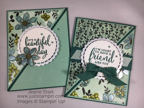 Stampin Up Fun Fold card ideas using Share What You Love Suite -Jeanie Stark StampinUp