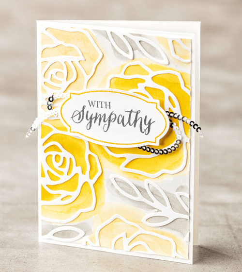 Stampin Up Rose Garden Sympathy card idea - Jeanie Stark StampinUp