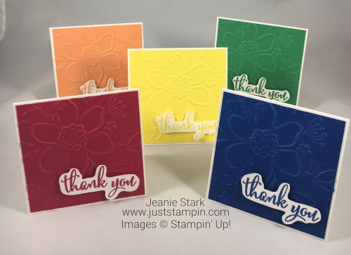 Stampin Up 2018 In Color Thank You card idea - Jeanie Stark StampinUp