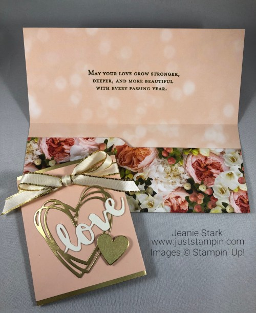 Stampin Up Sunshine Wishes wedding card / money holder idea - Jeanie Stark StampinUp