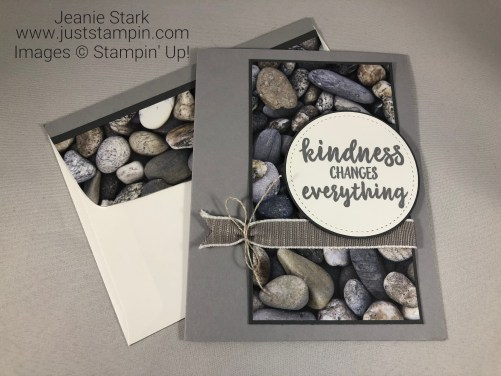 Stampin' Up! Abstract Impressions Thank you card idea - Jeanie Stark StampinUp