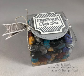 Stampin Up Darling Label Punch Box treat holder- Jeanie Stark StampinUp