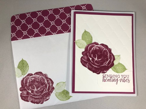 Stampin Up Healing Hugs Get Well card idea - Jeanie Stark Stampin Up