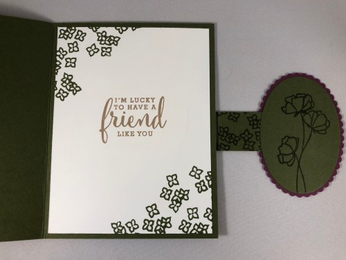 Stampin Up Love What You Do fun fold card idea - Jeanie Stark StampinUp