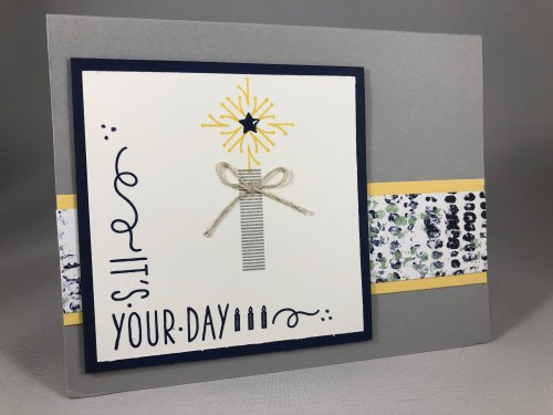 Stampin Up Around the Corner Birthday Card idea - Jeanie Stark StampinUp