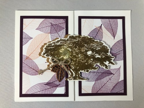 Stampin Up Rooted in Nature Fun Fold card idea - Jeanie Stark StampinUp