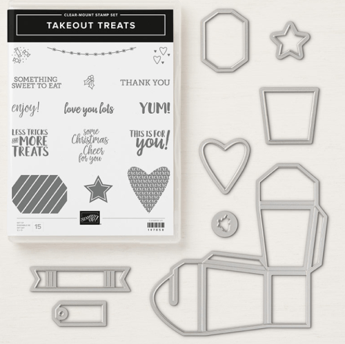 Save 10% on Stampin Up Takeout Treats Bundle - for inspiration and ordering information visit juststampin.com -Jeanie Stark StampinUp