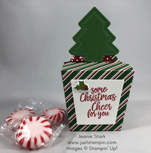 Stampin Up Takeout Treats bundle and Sweetly Stitched Christmas candy favors - Jeanie Stark StampinUp
