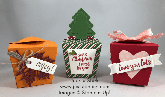 Stampin Up Takeout Treat boxes for all occasions - Jeanie Stark StampinUp