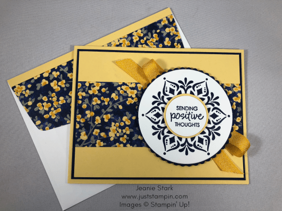 Stampin Up Happiness Surrounds card idea for encouragement - Jeanie Stark StampinUp