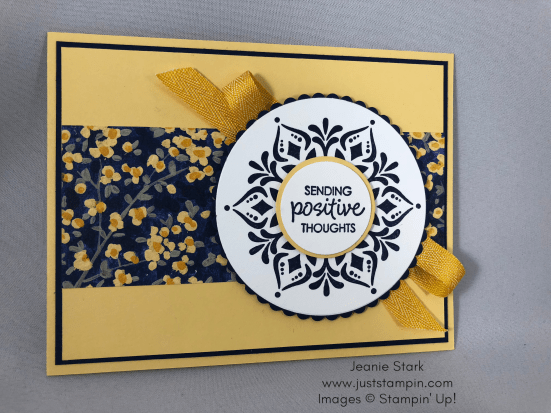 Stampin Up Happiness Surrounds and Garden Impressions card idea - Jeanie Stark StampinUp