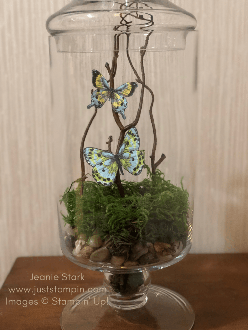 Stampin Up home decor gift idea using Botanical Butterfly Designer Series Paper - Jeanie Stark StampinUp