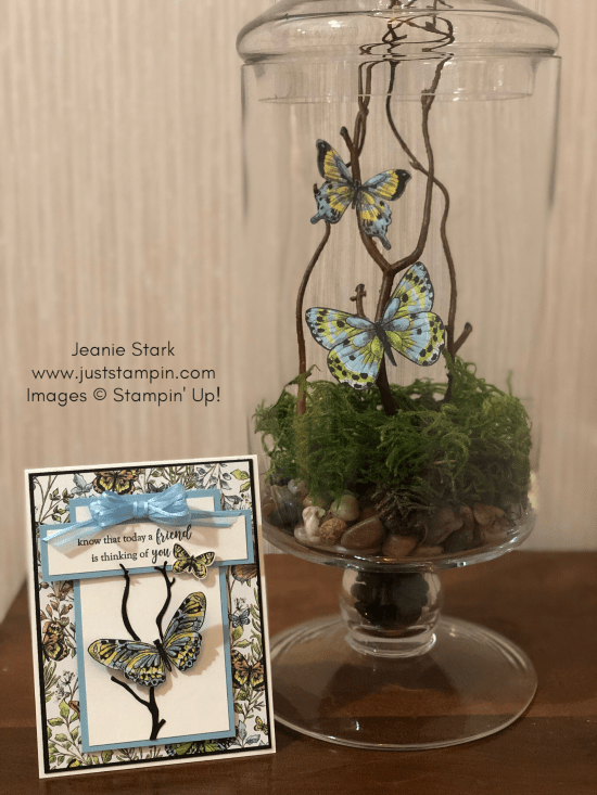 Stampin Up friend card and gift idea using Botanical Butterfly Designer Series Paper and Part of My Story Stamp Set - Jeanie Stark StampinUp