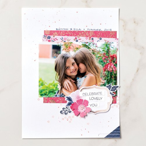 Stampin' Up! Everything is Rosy Product Medley scrapbook page idea - Jeanie Stark StampinUp