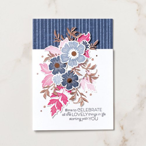 Stampin' Up! Everything is Rosy Product Medley birthday or celebration card idea - Jeanie Stark StampinUp