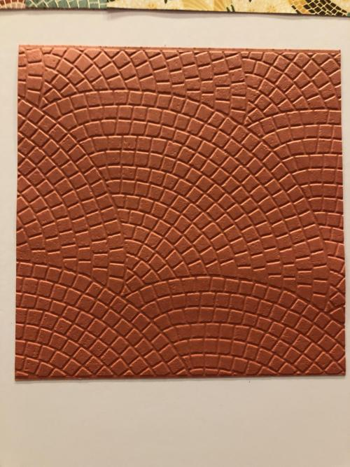 Stampin Up NEW Mosaic 3D Embossing FOlder - Jeanie Stark StampinUp