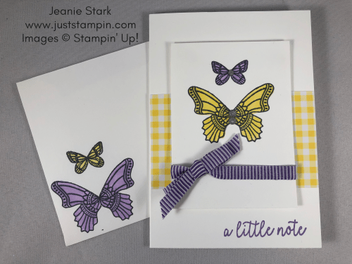 Stampin Up Butterfly Gala simple note card idea - Jeanie Stark StampinUp