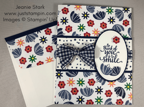 Stampin Up Happiness Blooms and Eastern Beauty All Occasion Card idea - Jeanie Stark StampinUp