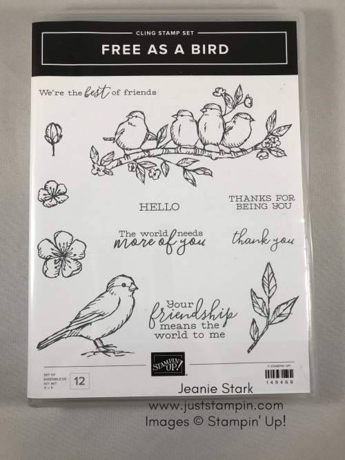 Stampin' Up! Free As A Bird Stamp Set - to order visit juststampin.com - Jeanie Stark StampinUp