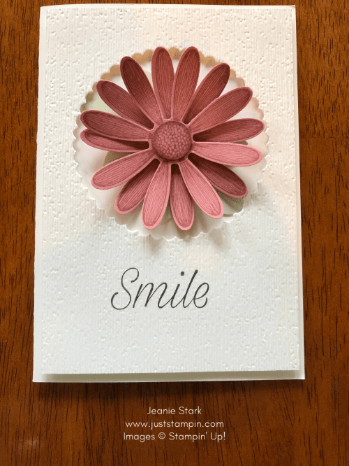 Stampin' Up! Rococo Rose Daisy Lane note card idea - Jeanie Stark StampinUp