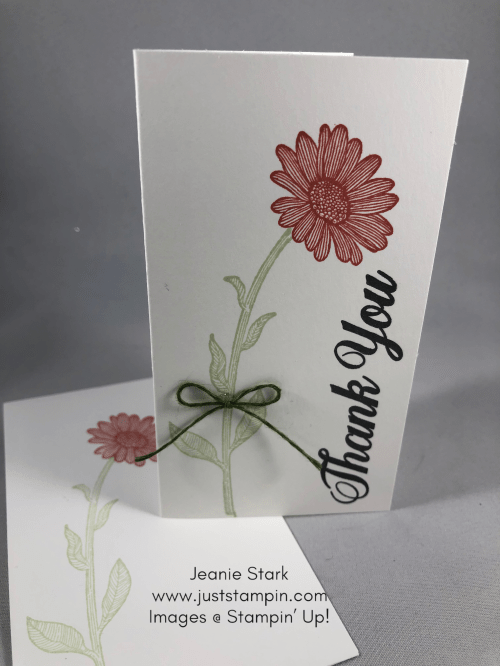 Stampin' Up! Daisy Lane Terracotta Tile thank you note card idea - Jeanie Stark StampinU