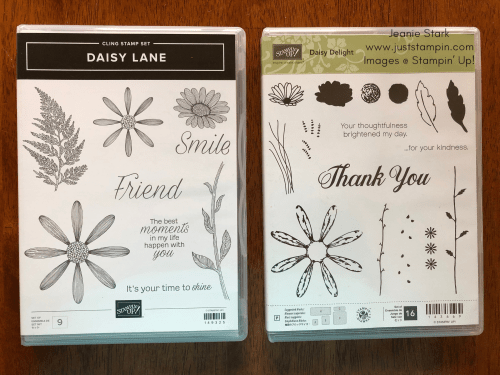 Stampin Up Daisy Lane and Daisy Delight Stamp Sets - Jeanie Stark StampinUp
