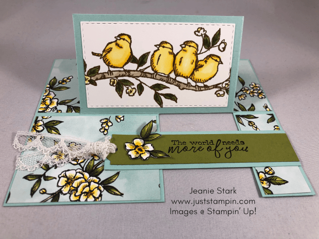 Stampin Up Free As a Bird Fun Fold All Occasion card idea - Jeanie Stark StampinUp