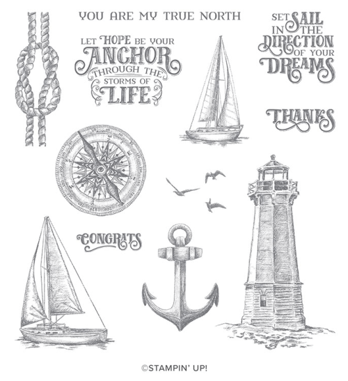 Stampin' Up! Sailing Home Stamp Set - Jeanie Stark StampinUp