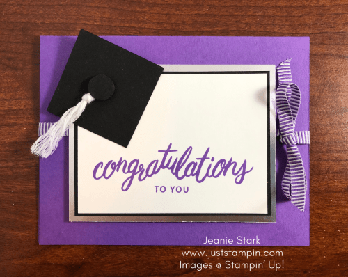 Stampin Up Friendly Expressions graduation card idea - Jeanie Stark StampinUp