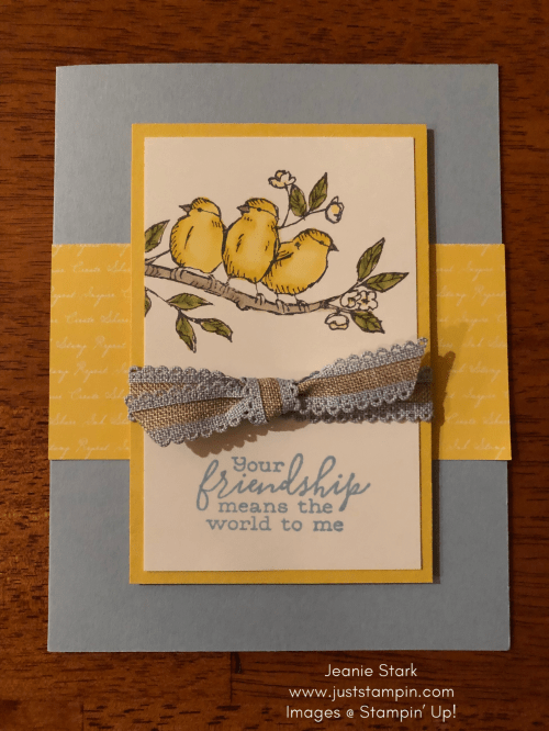 Stampin' Up! Free As A Bird friend card idea - Jeanie Stark StampinUp