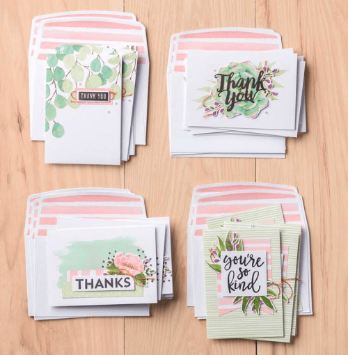 Stampin Up! Notes of Kindness Card Kit ideas - for ordering and more inspiration visit juststampin.com - Jeanie Stark StampinUp