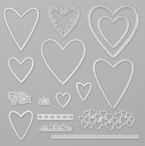 Stampin Up Stitched Be Mine Dies - Jeanie Stark StampinUp