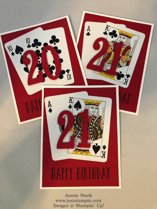 Stampin' Up! Perennial Birthday card idea for masculine 21st birthday - Jeanie Stark StampinUp