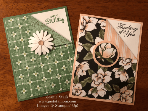 Stampin' Up! Quick & Easy corner fold card idea for any occasion - Jeanie Stark StampinUp