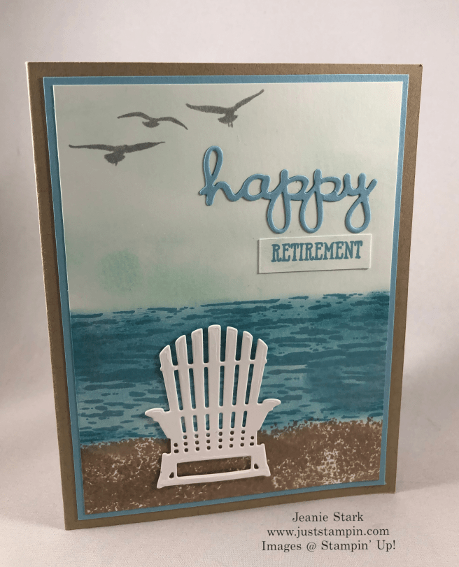Stampin\' Up! High Tide and Well Said retirement card idea - Jeanie Stark StampinUp