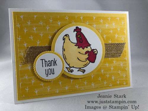 Stampin' Up! Birds of A Feather Thank You Note Card idea - Jeanie Stark StampinUp