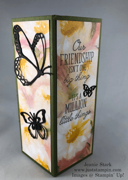 Stampin' Up! Beauty Abounds and Perennial Essence fun fold box card idea for a friend - Jeanie Stark StampinUp