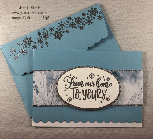 Stampin' Up! Everything Festive and Feels Like Frost Christmas card idea - Jeanie Stark StampinUp