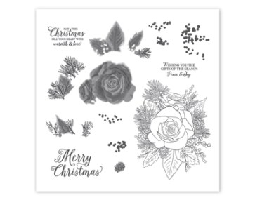 Christmas Rose Stamp Set