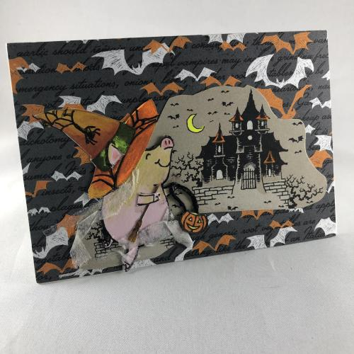 Stampin' Up! This Little Piggy Halloween card idea - visit juststampin.com - Jeanie Stark StampinUp