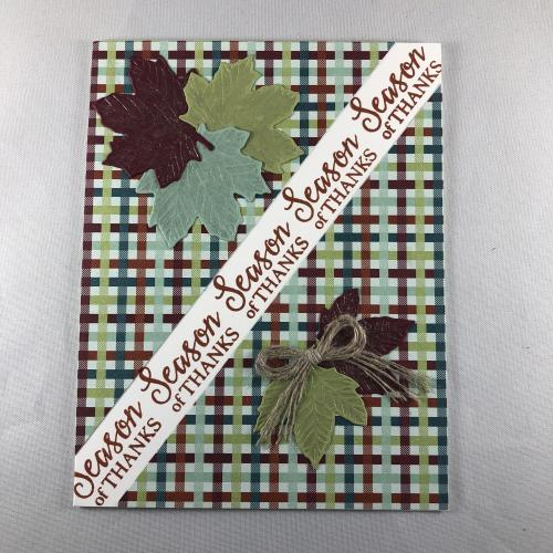 Stampin' Up! Gather Together Fall or Thanksgiving Thank You card idea - visit juststampin.com - Jeanie Stark StampinUp