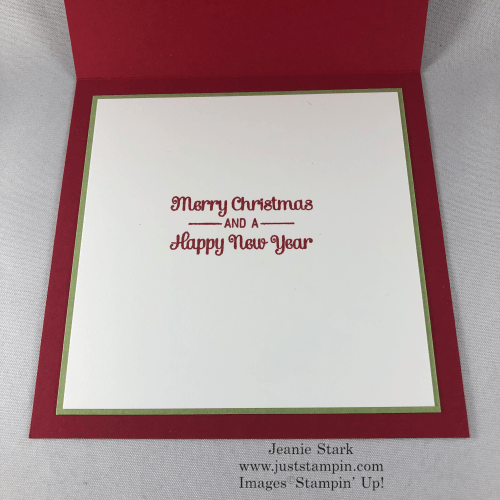 Stampin' Up! Itty Bitty Christmas Holiday card idea - Jeanie Stark StampinUp