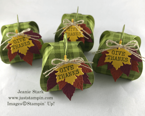 Stampin' Up! Mini Curvy Keepsake Box Dies Fall or Thanksgiving table favor idea - Jeanie Stark StampinUp