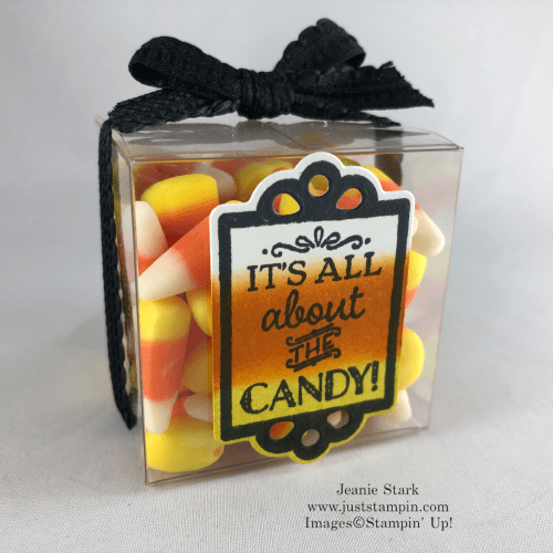 Stampin' Up! Tiny Treat Box idea using Tags Tags Tags Bundle for Halloween - Jeanie Stark StampinUp