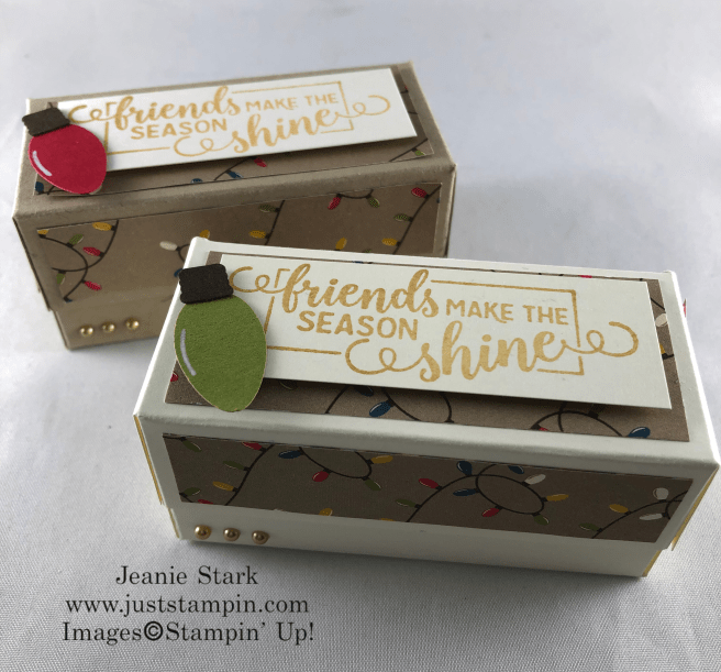Stampin\' Up! Making Christmas Bright fold over box gift idea for friends - Jeanie Stark StampinUp